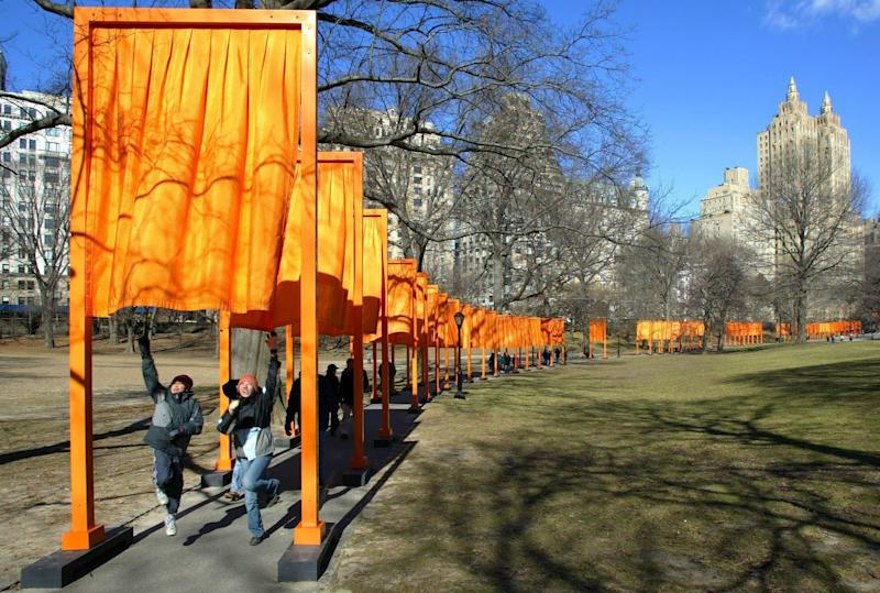 'The Gates' in Central Park, New York, 2005 - PETER FOLEY/EPA-EFE/Shutterstock