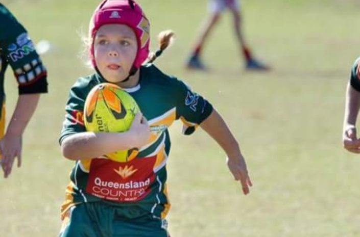 Charli Berghauser says her tumour stops her from playing rugby. Source: GoFundMe