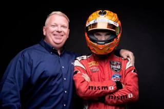 Austin and Jason Riley. Photo: Racing with Autism.