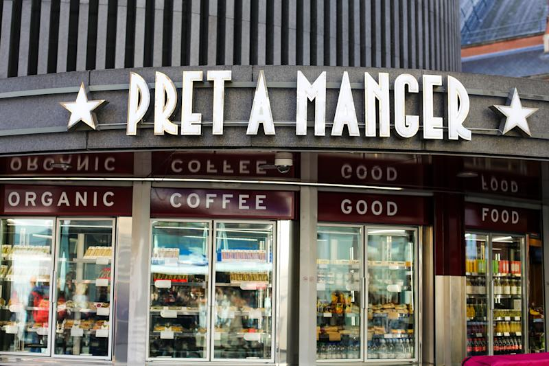 LONDON, UNITED KINGDOM - 2019/11/16: An exterior view of Pret A Manger at King's Cross in London. (Photo by Dinendra Haria/SOPA Images/LightRocket via Getty Images)
