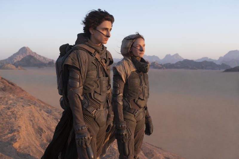 Timothée Chalamet as Paul Atreides and Rebecca Ferguson as Lady Jessica in 'Dune'. (Courtesy of Warner Bros Pictures)
