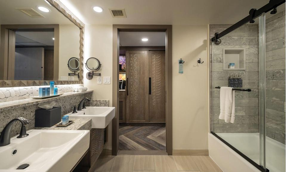 "<p>We love swiping a bottle or two of good-smelling body wash and shampoo from our <a href=""https://www.popsugar.com/smart-living/How-Much-Do-Disney-Hotels-Cost-46460226"" class=""link rapid-noclick-resp"" rel=""nofollow noopener"" target=""_blank"" data-ylk=""slk:Disney hotel room"">Disney hotel room</a> as much as the next person, but those little bottles create a lot of <a href=""https://www.popsugar.com/smart-living/how-to-use-less-plastic-48249684"" class=""link rapid-noclick-resp"" rel=""nofollow noopener"" target=""_blank"" data-ylk=""slk:unnecessary plastic waste"">unnecessary plastic waste</a>. A few years back, Disney World began an initiative to reduce plastic waste across the resort, including replacing some hotel amenities with refillable bottles of shampoo, conditioner, and body wash. If you just have to bring that Disney smell home, you can usually pick up a full-size bottle in the gift shop.</p>"