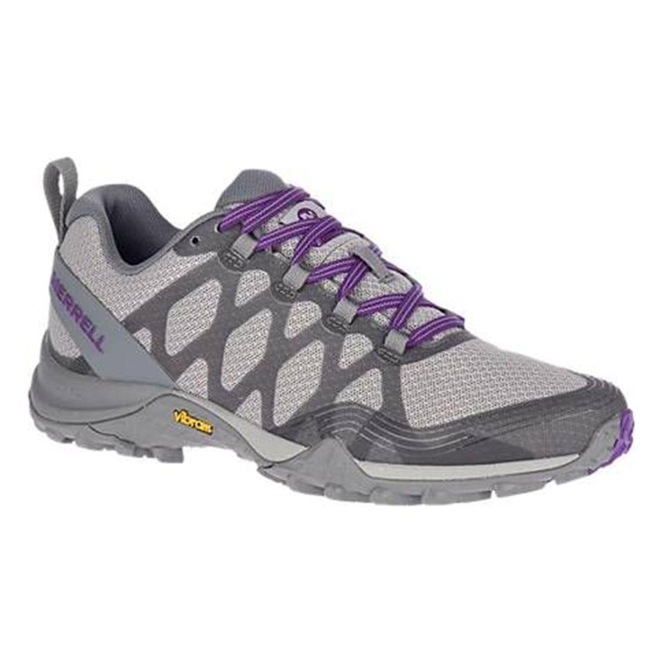 """<p><strong>Merrell</strong></p><p>merrell.com</p><p><strong>$100.00</strong></p><p><a href=""""https://go.redirectingat.com?id=74968X1596630&url=https%3A%2F%2Fwww.merrell.com%2FUS%2Fen%2Fsiren-3-ventilator%2F36288W.html%3Fdwvar_36288W_color%3DJ033906%23cgid%3Dwomen-footwear-hiking%26start%3D1&sref=https%3A%2F%2Fwww.thepioneerwoman.com%2Ffashion-style%2Fg32317616%2Fbest-hiking-boots-for-women%2F"""" rel=""""nofollow noopener"""" target=""""_blank"""" data-ylk=""""slk:Shop Now"""" class=""""link rapid-noclick-resp"""">Shop Now</a></p><p>If you want one shoe that does it all, the Siren 3 Ventilator's minimalist design will support your foot from the trails to the gym. </p>"""