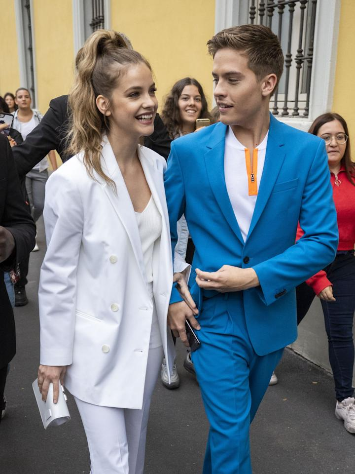 "<p>The couple sported <a href=""https://www.popsugar.com/fashion/dylan-sprouse-barbara-palvin-wearing-matching-suits-46662151"" class=""ga-track"" data-ga-category=""Related"" data-ga-label=""https://www.popsugar.com/fashion/dylan-sprouse-barbara-palvin-wearing-matching-suits-46662151"" data-ga-action=""In-Line Links"">matching Boss suits</a> to the Boss Spring/Summer 2020 show, and we couldn't be more in love with the look.</p>"