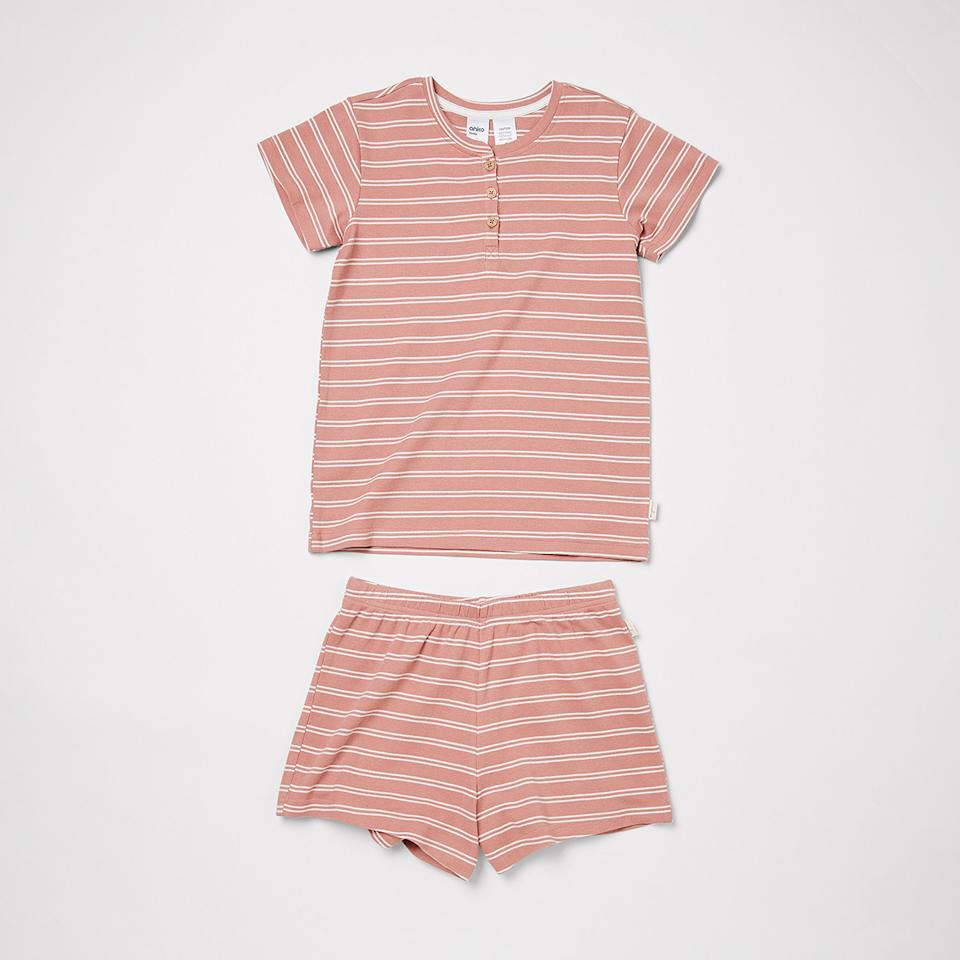Kmart Girls Organic Pyjama Set, $14. Photo: supplied.