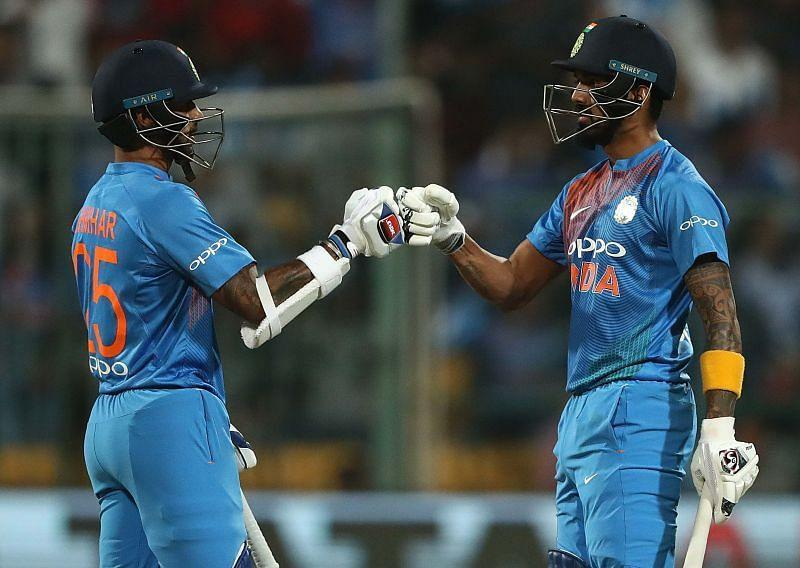 Shikhar Dhawan and KL Rahul are expected to open for India in the T20Is.