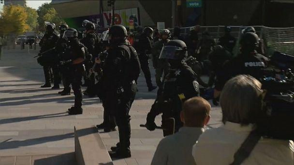 PHOTO: One person was shot and killed at the site of dueling protests in Denver on Saturday, Oct. 10, 2020. (KMGH)