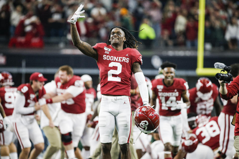 Wide receiver CeeDee Lamb will be switching from No. 2 to No. 88 in the pros. (AP Photo/Brandon Wade, File)