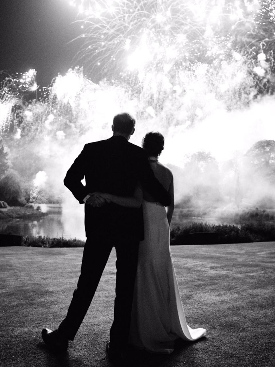 The Sussexes shared a previously unsees photo from their wedding day Kensington Palace