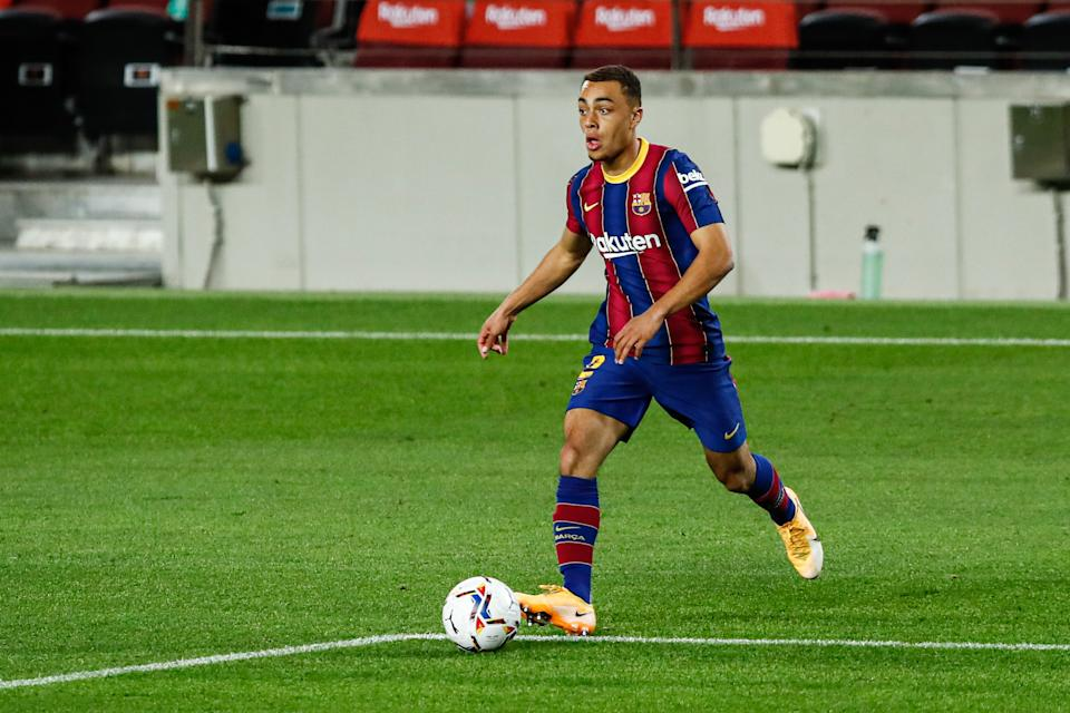 Sergiño Dest of FC Barcelona during the Spanish championship La Liga football match between FC Barcelona and Sevilla FC on October 04, 2020 at Camp Nou Stadium in Barcelona, Spain.