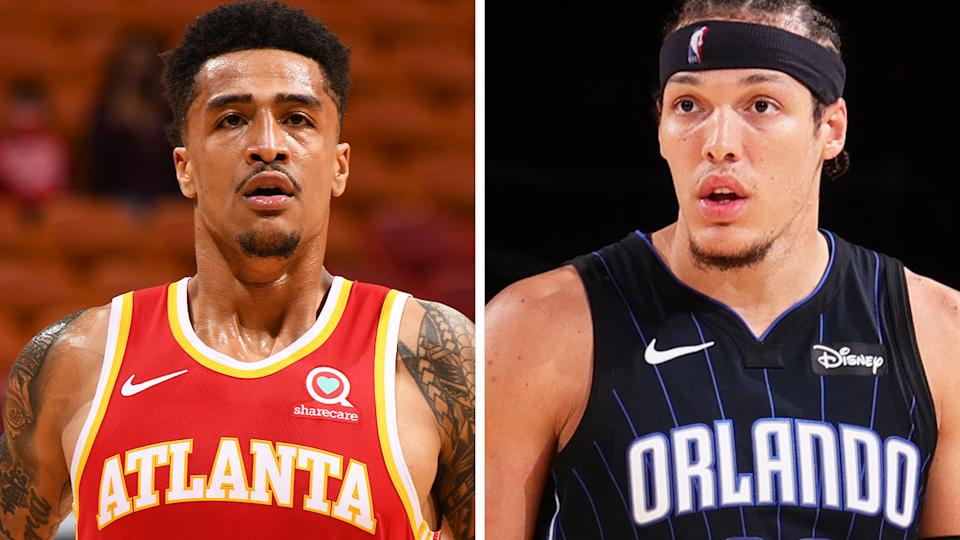 Atlanta's John Collins and Orlando's Aaron Gordon have been heavily featured in trade discussions by various teams ahead of the NBA trade deadline. Pictures: Getty Images