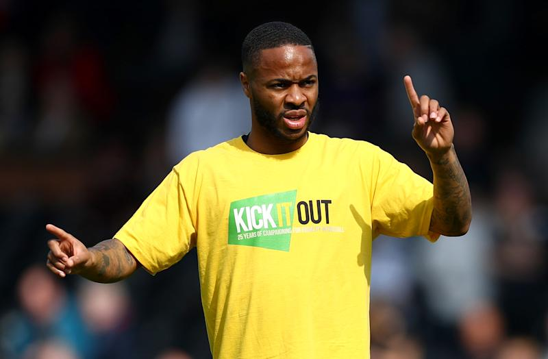 Raheem Sterling of Manchester City has campaigned against racism for years. (Photo by Clive Rose/Getty Images)