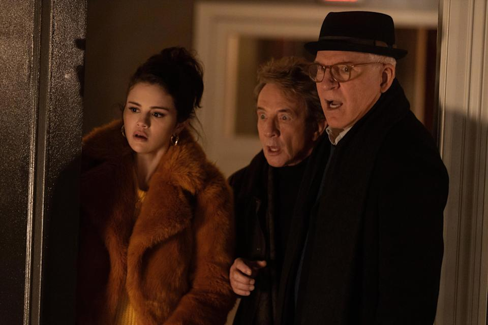 """Selena Gomez, Steve Martin and Martin Short in """"Only Murders in the Building."""""""