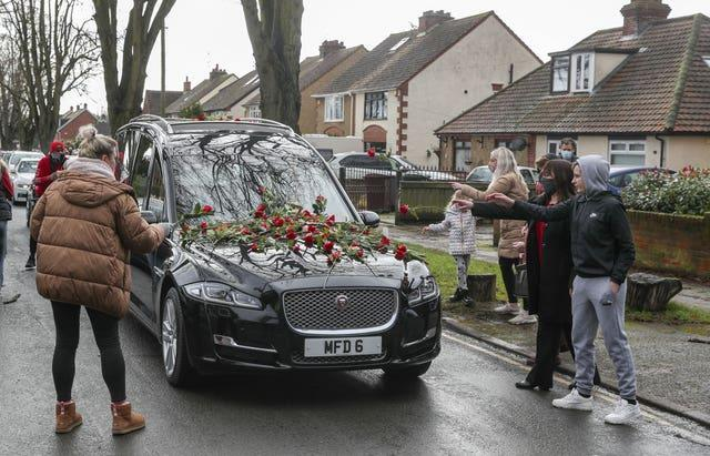 Olly Stephens funeral