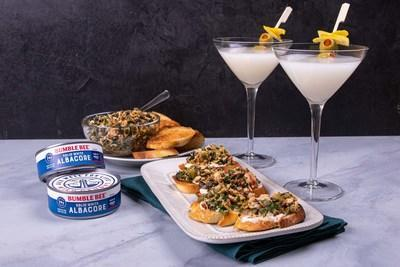 """Bumble Bee® Seafoods partners with FOODBEAST to create delicious """"tunatini"""" and crostini combo."""