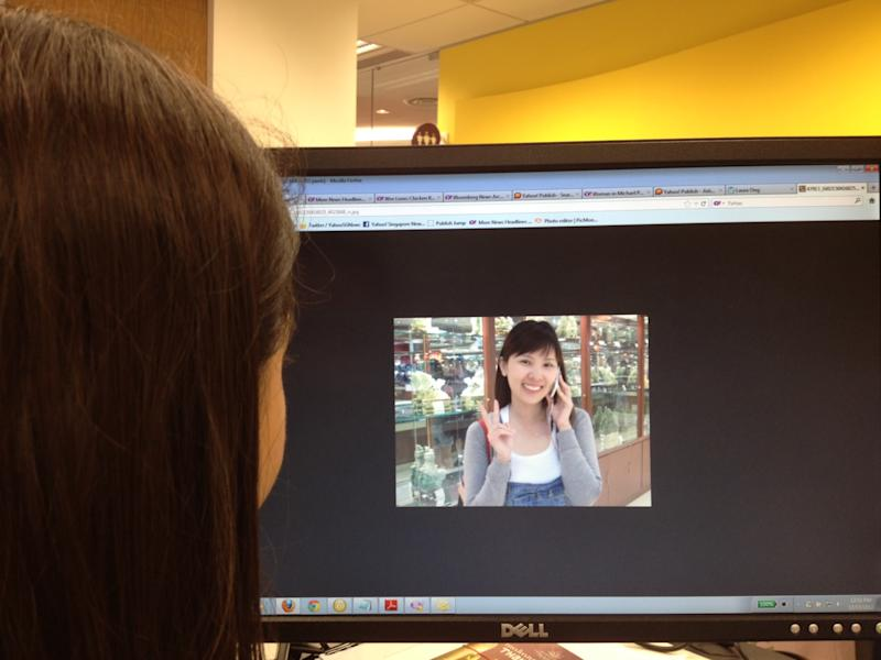 Photos of Laura Ong are spreading online after they were put up on a mystery blog.