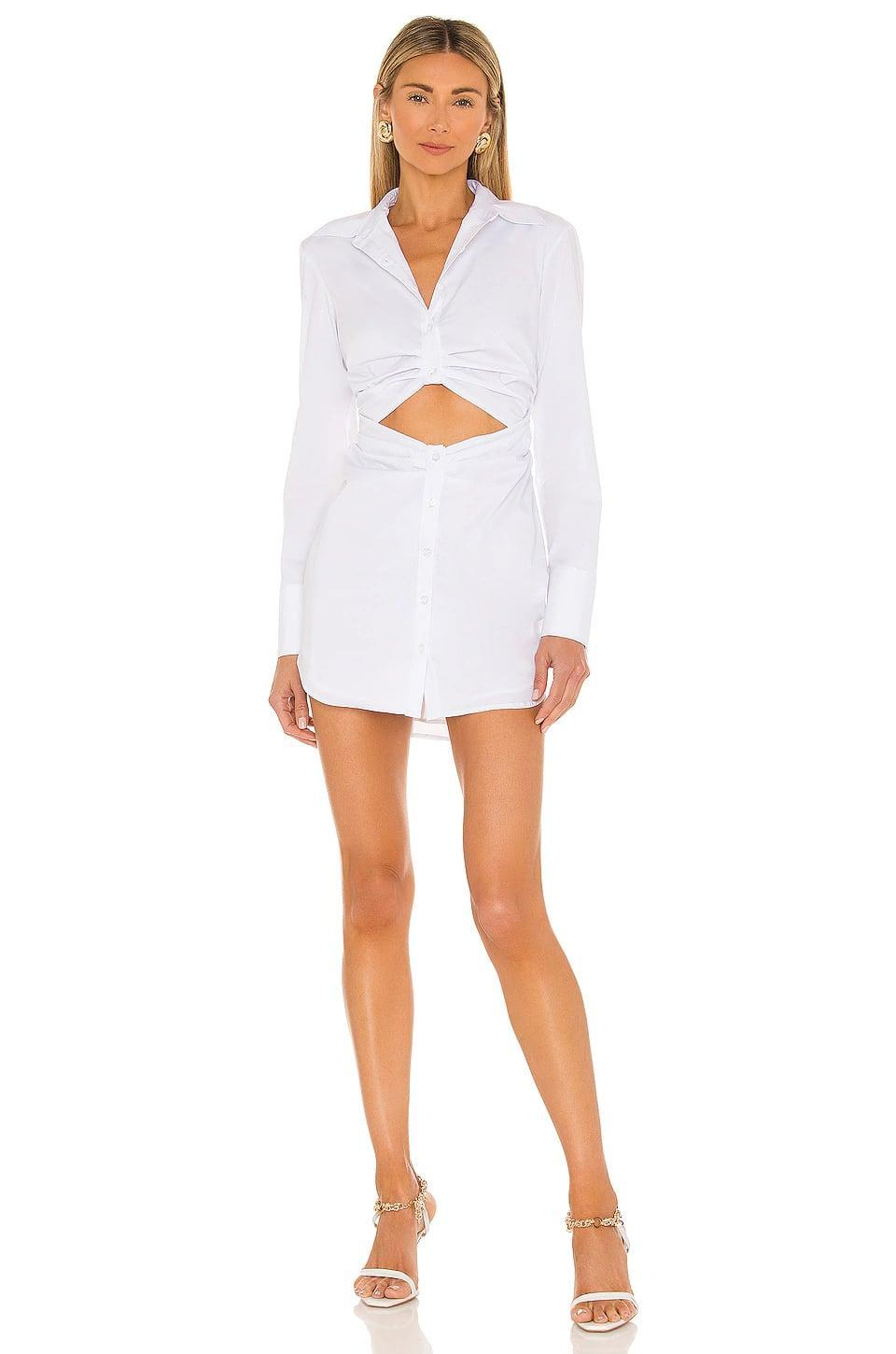 <p>This <span>L'Academie Damani Dress</span> ($198) is a sexy take on a shirt dress. We like it with sandals or sneakers.</p>