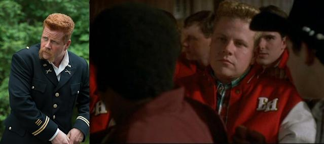 <p>As a crew member, Cudlitz worked on various sets until he began landing acting roles. He appeared in <i>Beverly Hills, 90210, A River Runs Through It</i>, and <i>D3: The Mighty Ducks</i> (pictured) before breaking out in HBO's <i>Band of Brothers.</i><br><br>(Photo: AMC/Walt Disney Pictures) </p>