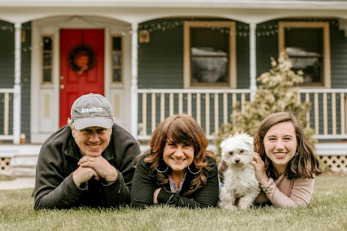 The Wilson family, of Pelham, N.H. Wells Fargo put their loan into forbearance without their permission, impacting their credit report (Liz Hogan)