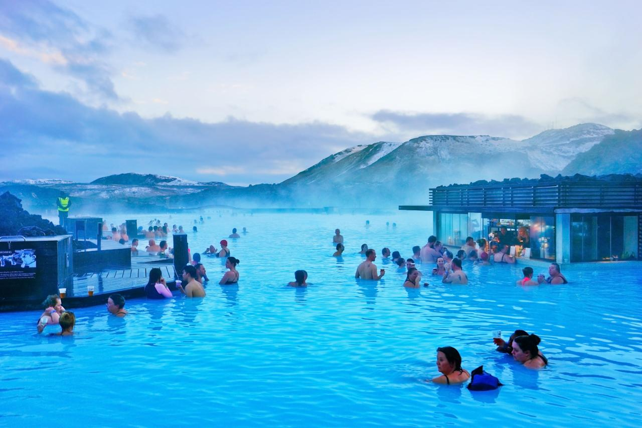 """This geothermal spa, located in a lava field in southwestern Iceland, is a popular tourist spot, and you only need to look into its bright blue waters to see why. <a href=""""https://fave.co/32kuVvD"""">Book a visit here</a> <em>[Photo: Getty]</em>"""