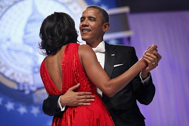 Former president Barack Obama wore a JCrew-designed bow tie. (Photo: Getty Images)