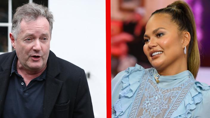 Piers Morgan has called Chrissy Teigen's apology a sham. (Getty Images)