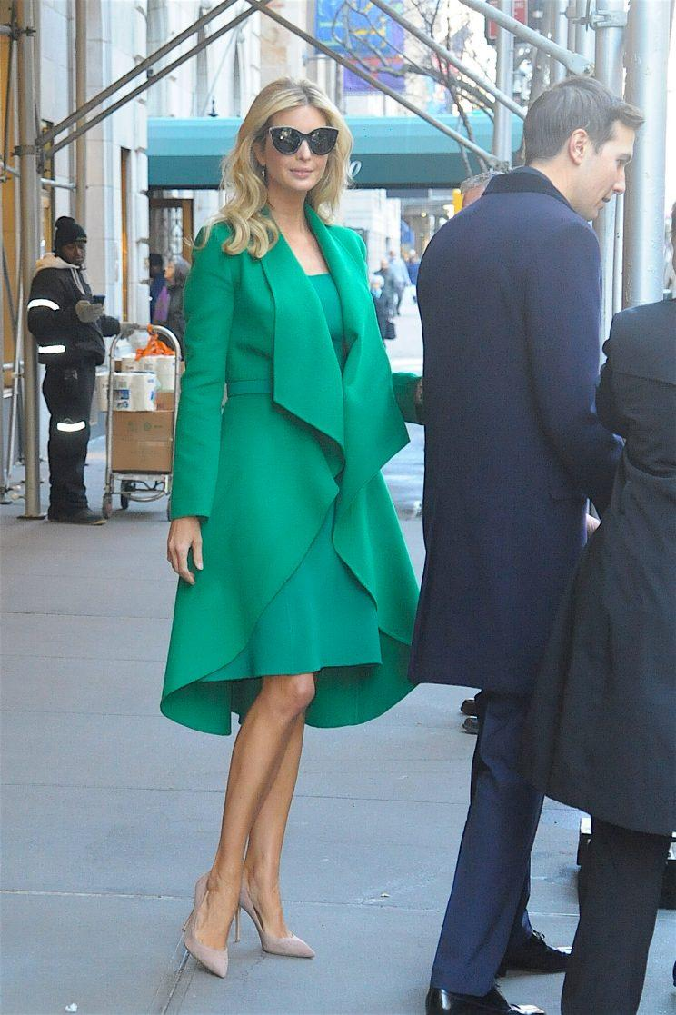 Ivanka Trump and her husband, Jared Kushner leave their New York residence on their way to Washington, D.C. for her father's inauguration. (Photo by Raymond Hall/GC Images)