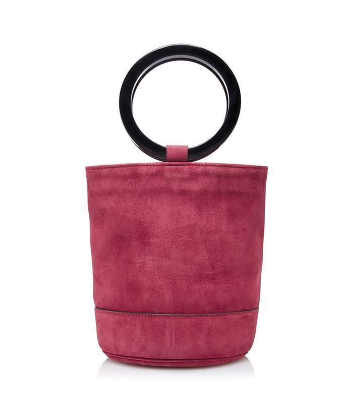This berry suede is an easy bag to transition into fall.