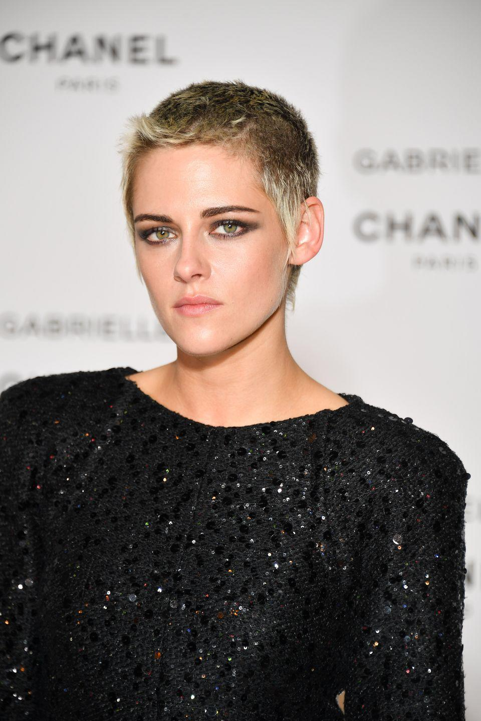 """<p>Kristen Stewart is another actress that shaved her head for a role, although she was seemingly thrilled to have done so. Appearing on The Today Show, she said she had """"wanted to do this for a long time"""".</p>"""