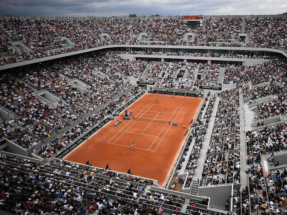 A general view of the Philippe Chatrier court at Roland Garros (AFP via Getty Images)