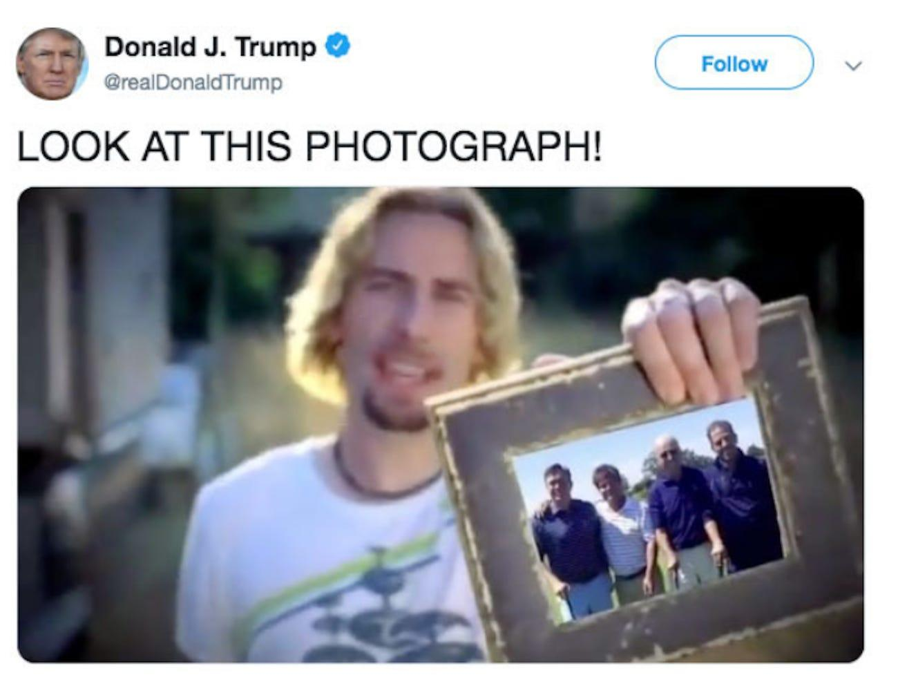 Trump's video taken off Twitter after band Nickelback complains