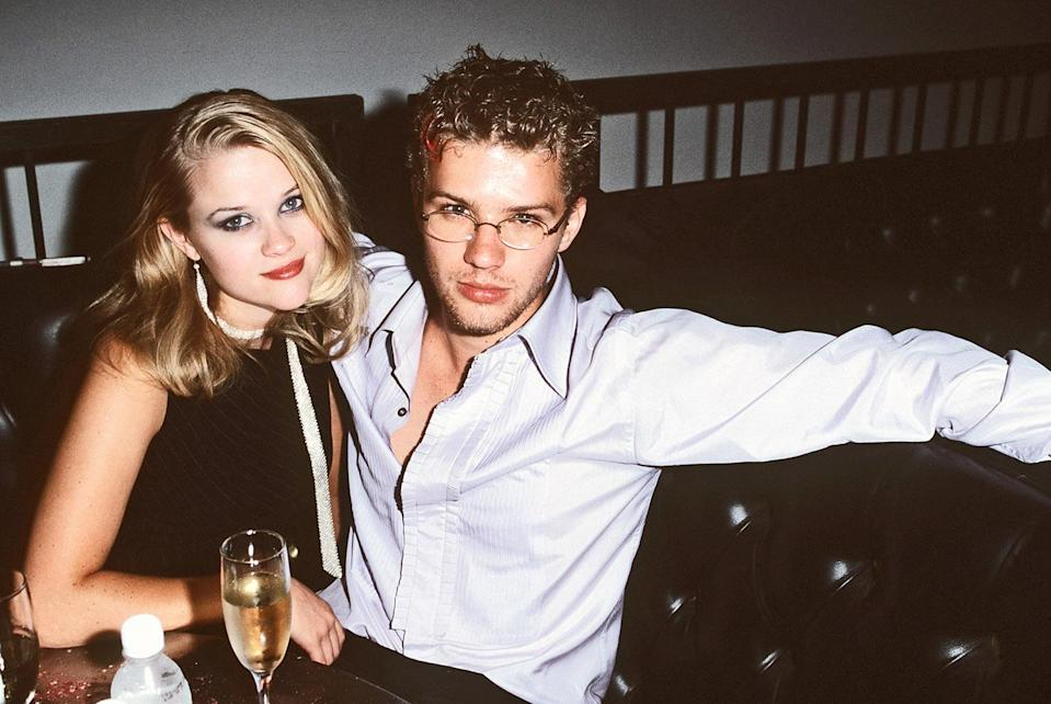 <p>Reese attended the <em>54</em> premiere with then-boyfriend Ryan Phillippe. Reese and Ryan would go on to co-star in <em>Cruel Intentions</em> the following year and the film's steamy scenes would help solidify their status as one of Hollywood's hottest couples.<br>(Photo: Getty Images) </p>