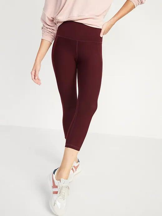 <p>Pick these <span>Old Navy High-Waisted PowerPress Built-In Sculpt Crop Leggings</span> ($18-$20, originally $45)for intense activities like kickboxing as they have the brand's highest level of compression. </p>