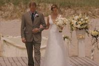 <p>When Katherine Heigl's character, Jane, finally gets her turn to walk down the aisle (and let's not dwell on the gender politics of this movie, because, well, they suck), she opts for this understated and elegant gown. <em>Magnifique! </em></p>