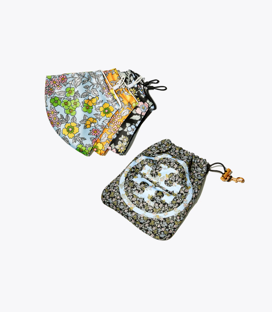 Tory Burch Printed Face Mask - Set of three with pouch, $45 ($34 USD).