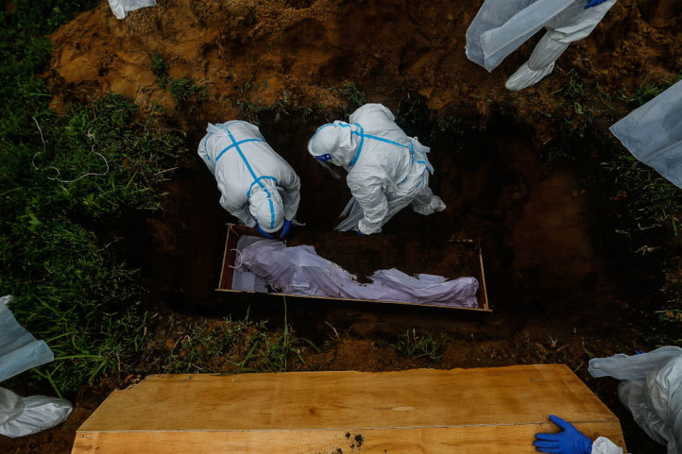 Out of the new deaths logged, 49 cases had been brought in dead. — Picture by Sayuti Zainudin