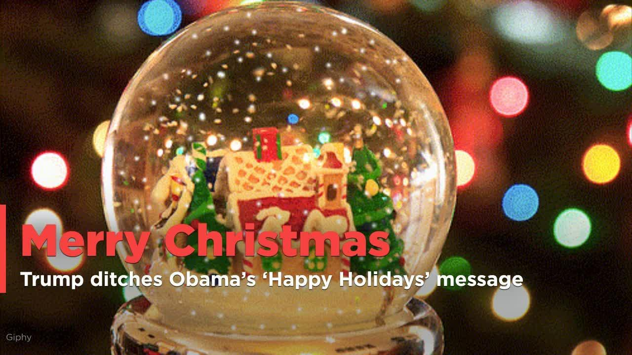 Make \'A Merry Christmas\' great again: Donald Trump ditches Obama\'s ...