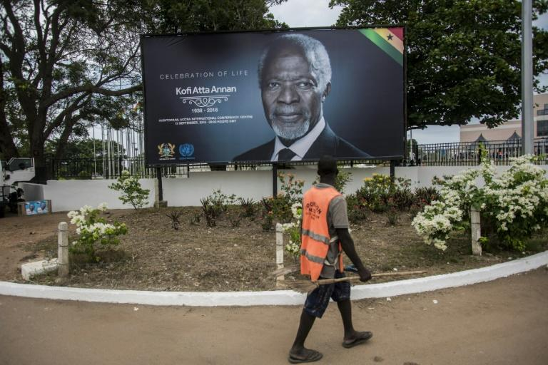 The body of former UN chief Kofi Annan has been kept at Accra International Conference Centre prior to the state funeral