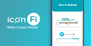 ICON Blockchain Network Launches ICONFi, A New Crypto Staking-and-Earn Service Built for Beginners. At launch, ICONFi will offer a 20% APY fixed-term product on select crypto asset deposits.