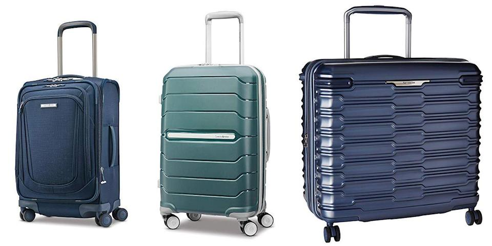 "<p class=""body-tip""><a class=""link rapid-noclick-resp"" href=""https://www.amazon.com/stores/Samsonite/Samsonite/page/81A46DBE-C753-4AAF-8778-120CB1CD199F?tag=syn-yahoo-20&ascsubtag=%5Bartid%7C10055.g.26898407%5Bsrc%7Cyahoo-us"" rel=""nofollow noopener"" target=""_blank"" data-ylk=""slk:SHOP NOW"">SHOP NOW</a><br></p><p>Samsonite's another brand that has proven high quality as we've tested it over the years, including both <a href=""https://www.amazon.com/stores/page/3A7E0005-A601-48F8-A912-E690207FE35F?tag=syn-yahoo-20&ascsubtag=%5Bartid%7C10055.g.26898407%5Bsrc%7Cyahoo-us"" rel=""nofollow noopener"" target=""_blank"" data-ylk=""slk:hard"" class=""link rapid-noclick-resp"">hard</a> and <a href=""https://www.amazon.com/stores/page/433BD6CD-85B0-4925-ADAB-F8549C1DDFEB?tag=syn-yahoo-20&ascsubtag=%5Bartid%7C10055.g.26898407%5Bsrc%7Cyahoo-us"" rel=""nofollow noopener"" target=""_blank"" data-ylk=""slk:soft"" class=""link rapid-noclick-resp"">soft</a> styles. It has specifically stood out for durability and ease of use: There's been <strong>no struggling to open and close the cases, and packing them has been a breeze</strong> thanks to the functional compartments, making them perfect for someone who is constantly on the go. We also love the designs, including the <a href=""https://www.amazon.com/dp/B01LX0W4XI?tag=syn-yahoo-20&ascsubtag=%5Bartid%7C10055.g.26898407%5Bsrc%7Cyahoo-us"" rel=""nofollow noopener"" target=""_blank"" data-ylk=""slk:Stryde Glider"" class=""link rapid-noclick-resp"">Stryde Glider</a> which turns the luggage on the side so it's wide (not tall), making it more stable and less likely to tip if you stack another bag on top.<br></p>"