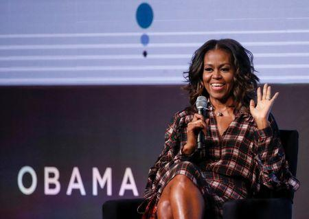 FILE PHOTO:  Former First Lady Michelle Obama speaks during the second day of the first Obama Foundation Summit in Chicago