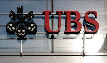 Logo of Swiss bank UBS is seen in Zurich