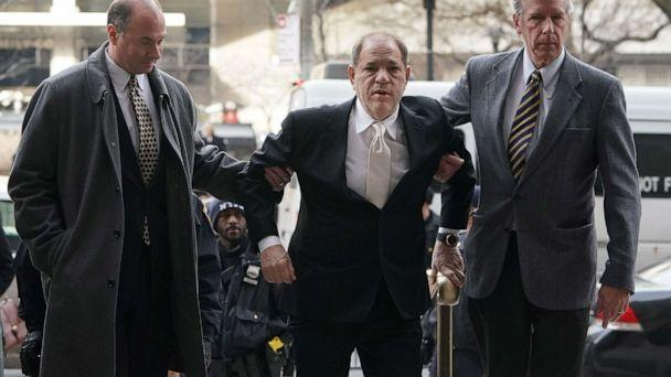 PHOTO: Harvey Weinstein arrives at Manhattan Supreme Court, Jan. 23, 2020, for the second day in his rape and sexual assault trial. (Timothy A. Clary/AFP/Getty Images)