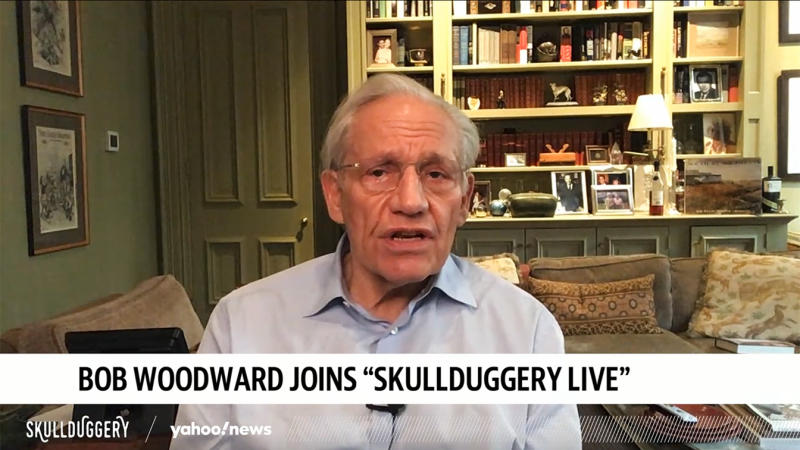 Journalist and author Bob Woodward on Yahoo News podcast Slullduggery on September 17, 2020. (via Yahoo News Video)