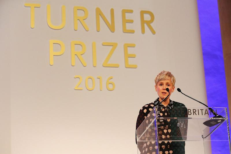 Winning big: Helen Marten won the 2016 Turner Prize: PA