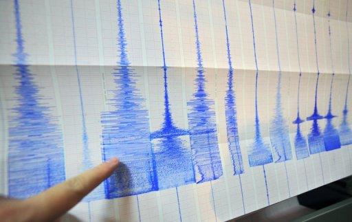 An earthquake with a magnitude of 5.7 has struck at sea off southeastern Taiwan
