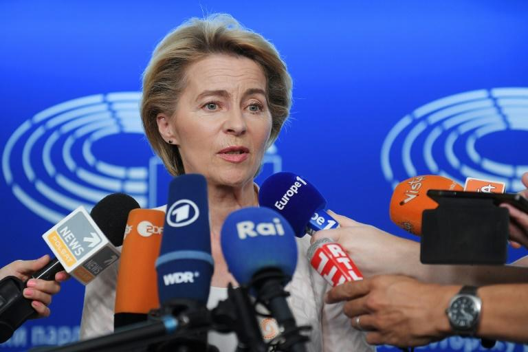 Ursula von der Leyen said under her stewardship the European Commission will be no more willing to renegotiate than before the terms of Britain's departure from the bloc (AFP Photo/FREDERICK FLORIN)