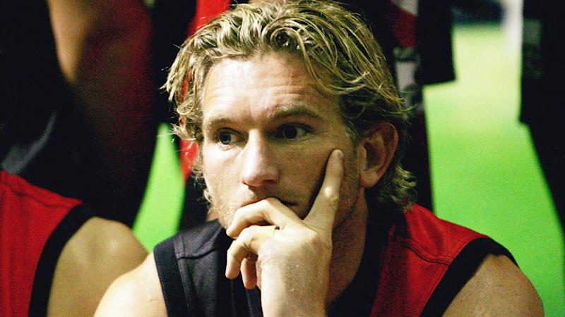 Pictured here, James Hird during his Essendon playing days in the AFL.