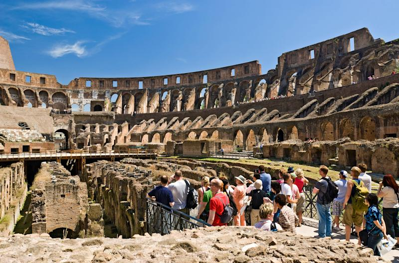 Few tourists who visit the Colosseum know of its long centuries of occupation after the fall of the Roman Empire. - Credit: Alamy