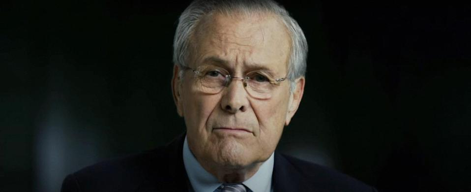 """<p>If you're not familiar with the life and political career of Donald Rumsfeld, then this documentary will tell you everything you need to know about the former US Secretary of Defense and congressman, from his time in Congress to serving under Gerald Ford and George W. Bush.</p> <p><a href=""""http://www.netflix.com/title/70292939"""" rel=""""nofollow noopener"""" class=""""link rapid-noclick-resp"""" target=""""_blank"""" data-ylk=""""slk:Watch The Unknown Known on Netflix"""">Watch<strong> The Unknown Known </strong>on Netflix</a>.</p>"""